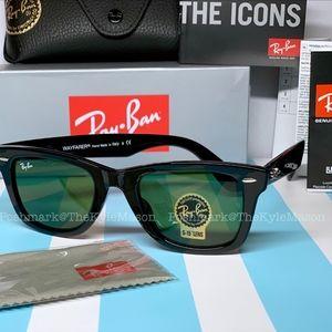 Black Original Wayfarer RayBan Unisex Sunglasses